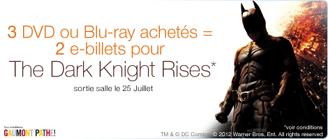 Bon plan The Dark Knight Rises