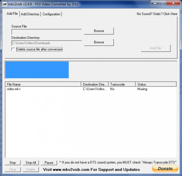 mkv2vob add file muxing progress bar