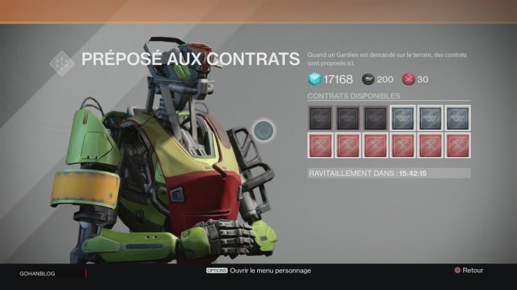 Xander contrat Destiny