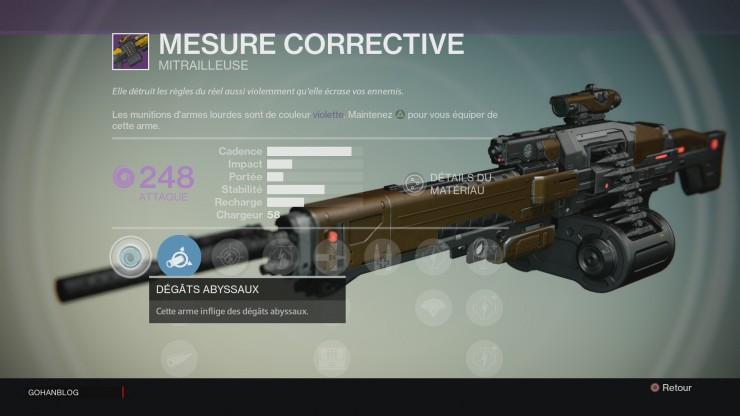 Destiny Mesure corrective