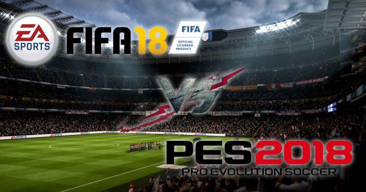 FIFA 18 vs PES 2018