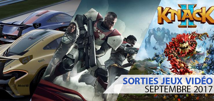 sorties jeu video septembre 2017